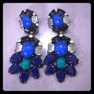 Stella & Dot Earrings - 2 in 1 Purple & Blue